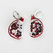 Украшения handmade. Livemaster - original item Garnet earrings, polymer clay. Handmade.