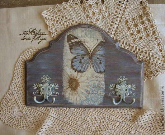 """Подвески ручной работы. Ярмарка Мастеров - ручная работа. Купить Вешалка-ключница """"рapillon et la fleur"""". Handmade. бабочки"""