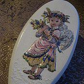 """Подарки к праздникам ручной работы. Ярмарка Мастеров - ручная работа Расческа """"Нежный Ангел"""". Handmade."""