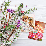 Открытки handmade. Livemaster - original item Set of postcards Spring. Handmade.
