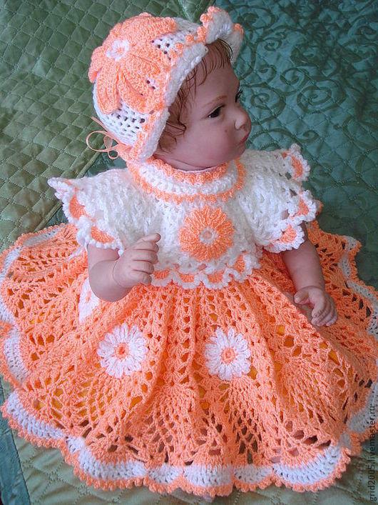 """Одежда для кукол ручной работы. Ярмарка Мастеров - ручная работа. Купить Платье для куклы """"Ромашка"""". Handmade. Платье для девочки"""