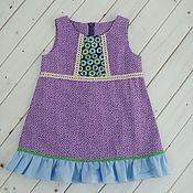 Работы для детей, ручной работы. Ярмарка Мастеров - ручная работа Платье для девочки летнее в горох. Handmade.