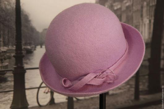 """Шляпы ручной работы. Ярмарка Мастеров - ручная работа. Купить Шляпка из войлока """"Только на """"Вы"""". Handmade. Сиреневый, шляпка женская"""