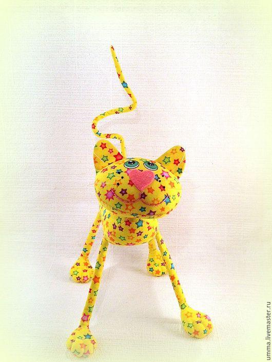 Игрушки животные, ручной работы. Ярмарка Мастеров - ручная работа. Купить Солнечный кот  )). Handmade. Кот, интерьерная игрушка