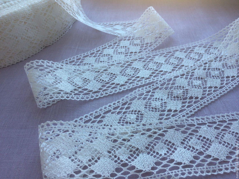Industrial Style Len linen lace prosa diamonds 70 mm shop on livemaster