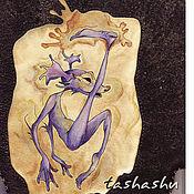 """Сумки и аксессуары ручной работы. Ярмарка Мастеров - ручная работа Сумка - планшет """"Акварельный человечек"""".. Handmade."""