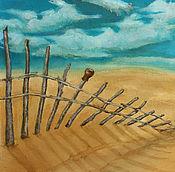 Картины и панно ручной работы. Ярмарка Мастеров - ручная работа Картина маслом Забор. Handmade.