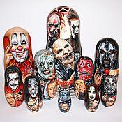 Русский стиль ручной работы. Ярмарка Мастеров - ручная работа Портретная матрёшка Slipknot. Handmade.