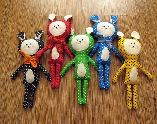 Игрушки животные, ручной работы. Ярмарка Мастеров - ручная работа. Купить Зайчики игровые. Handmade. Заяц, игрушка для детей