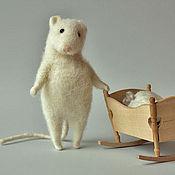 """Куклы и игрушки handmade. Livemaster - original item """"Mice family"""".. Handmade."""
