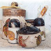Для дома и интерьера ручной работы. Ярмарка Мастеров - ручная работа Набор кухонный Дары осени. Handmade.