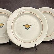 Винтажные тарелки ручной работы. Ярмарка Мастеров - ручная работа Старинная тарелка 1929 г Edouard Charbonnier.. Handmade.