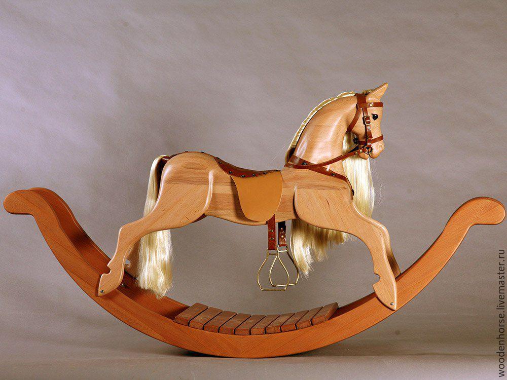 Лошадка качалка из дерева своими руками фото
