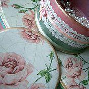 Для дома и интерьера ручной работы. Ярмарка Мастеров - ручная работа Набор шкатулок Розы в перламутре. Handmade.
