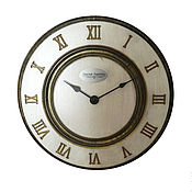 Для дома и интерьера handmade. Livemaster - original item A wall clock. White beech. Old gold. Time.. Handmade.