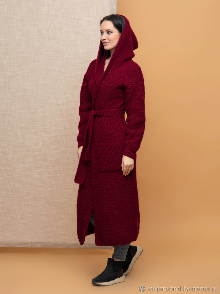 Long cardigan with hood, Cardigans, Moscow,  Фото №1