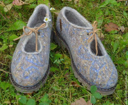 """Обувь ручной работы. Ярмарка Мастеров - ручная работа. Купить Туфли валяные """"Пейсли"""". Handmade. Комбинированный, обувь из войлока, фелтинг"""