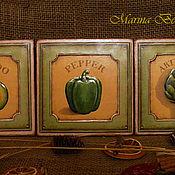 Для дома и интерьера ручной работы. Ярмарка Мастеров - ручная работа Комплект панно или вешалочек. Handmade.