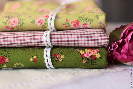 Шитье ручной работы. Ярмарка Мастеров - ручная работа. Купить Набор тканей Зеленый. Handmade. Ткань для рукоделия, ткань