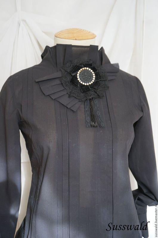"""Блузки ручной работы. Ярмарка Мастеров - ручная работа. Купить Блузка 'Черный бархат"""". Handmade. Черный, блузка, стиль"""