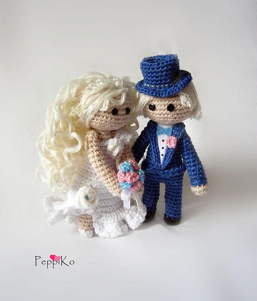 Человечки ручной работы. Ярмарка Мастеров - ручная работа. Купить Жених и невеста. Handmade. Жених и невеста, влюбленные, хлопок