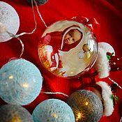 Елочные игрушки ручной работы. Ярмарка Мастеров - ручная работа Елочный шар. Handmade.