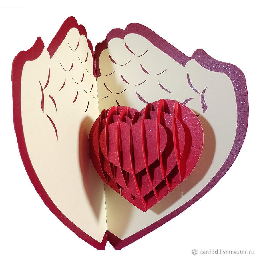 открытка с раскрывающимся сердцем фото