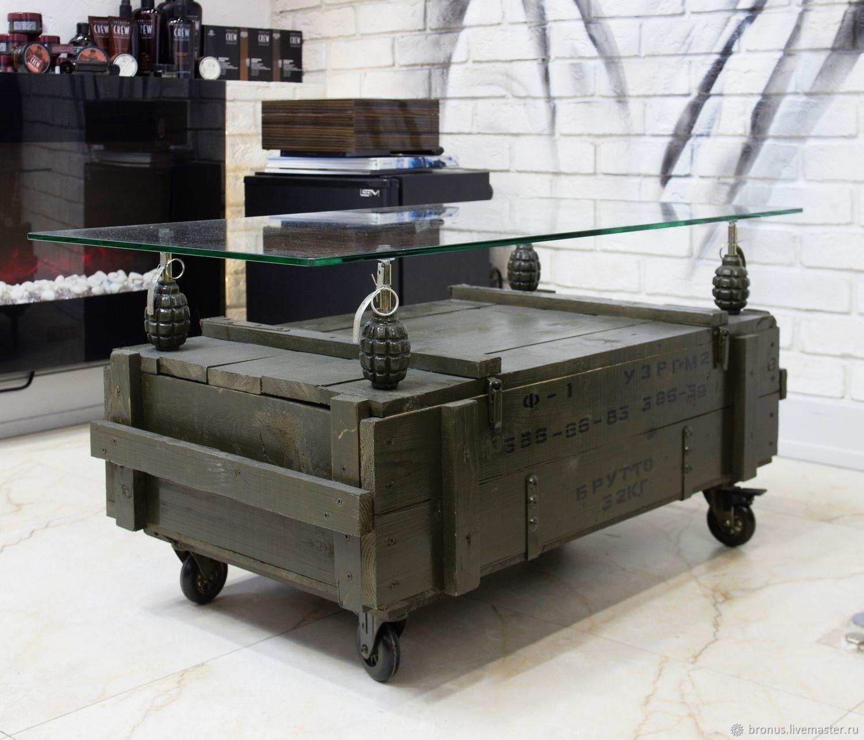Журнальный столик Loft, Индастриал, Милитари, Столы, Москва,  Фото №1
