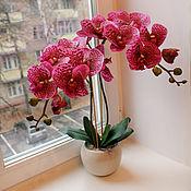Цветы и флористика ручной работы. Ярмарка Мастеров - ручная работа Орхидея крупная ярко-розовая. Handmade.
