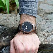 Часы наручные ручной работы. Ярмарка Мастеров - ручная работа Наручные часы Woodee Neon-line с деревянным ремешком. Handmade.