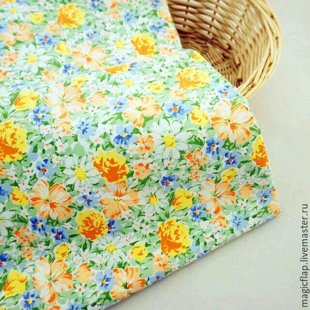 Шитье ручной работы. Ярмарка Мастеров - ручная работа. Купить Ткань хлопок Весенняя рапсодия: цветочный принт. Для текстиля, одежды. Handmade.