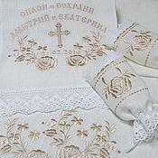 Свадебный салон handmade. Livemaster - original item Set for wedding, embroidery color baked milk, ivory.Item no: 0204. Handmade.