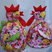 Для дома и интерьера ручной работы. Ярмарка Мастеров - ручная работа Грелка на чайник Петушок (разные расцветки). Handmade.