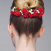 Свадебный салон ручной работы. Ярмарка Мастеров - ручная работа Ветвь красных роз. Handmade.