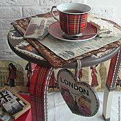 """Для дома и интерьера ручной работы. Ярмарка Мастеров - ручная работа Чайный столик """"Каникулы в Лондоне"""". Handmade."""