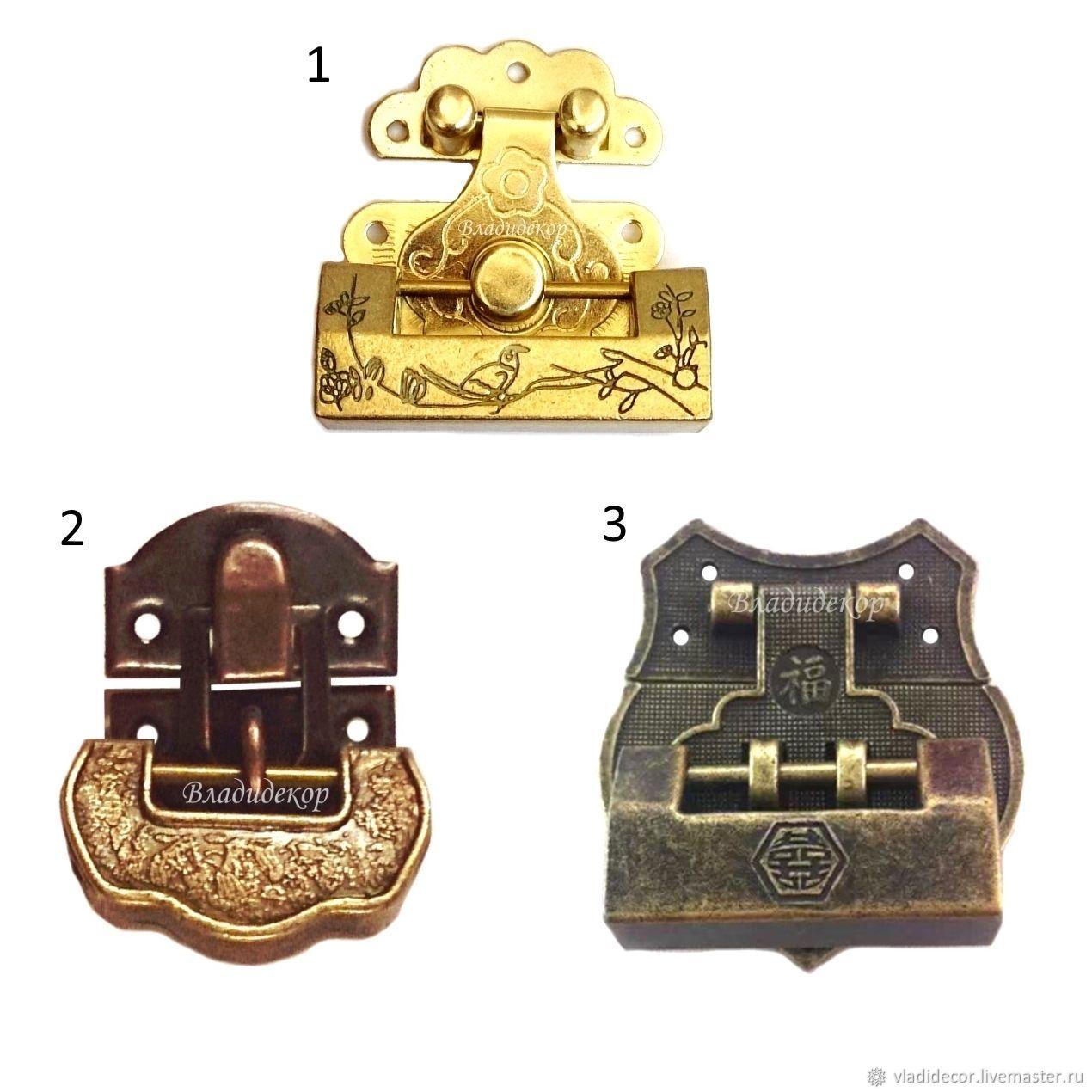 Навесной древний китайский замок с ключом для украшения шкатулок, Шкатулки, Владивосток,  Фото №1