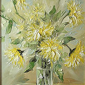 Картины и панно handmade. Livemaster - original item Chrysanthemum. Handmade.
