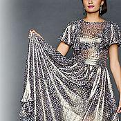 Одежда ручной работы. Ярмарка Мастеров - ручная работа шелковое платье с рукавами крылья-2. Handmade.