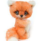 Куклы и игрушки ручной работы. Ярмарка Мастеров - ручная работа Лисенок тедди Тео 15,5 см. Handmade.