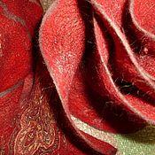 Аксессуары ручной работы. Ярмарка Мастеров - ручная работа валяный шарф и берет Вечерний звон комплект. Handmade.