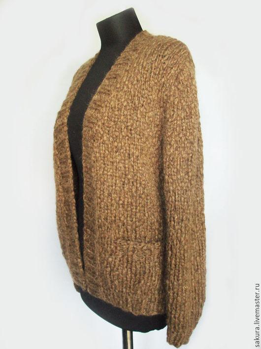 """Кофты и свитера ручной работы. Ярмарка Мастеров - ручная работа. Купить Кардиган """"Миндаль"""". Handmade. Коричневый, жакет ручной работы"""