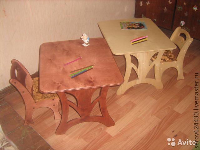 Детский стул и стол из фанеры своими руками