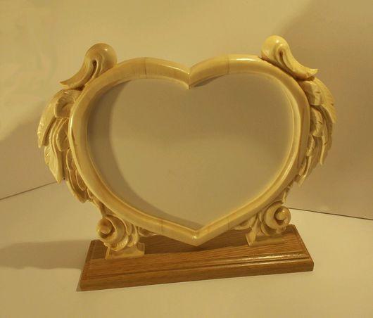 Фоторамки ручной работы. Ярмарка Мастеров - ручная работа. Купить Фоторамка сердце. Handmade. Фоторамка, сердце, Дерево натуральное