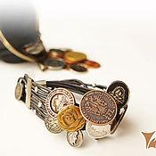 """Украшения ручной работы. Ярмарка Мастеров - ручная работа Кожаный браслет """"Ahorra"""". Handmade."""