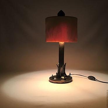 Для дома и интерьера ручной работы. Ярмарка Мастеров - ручная работа Настольная лампа из дерева и керамики. Handmade.