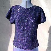 """Одежда ручной работы. Ярмарка Мастеров - ручная работа Топ оверсайз """"Звездная ночь"""". Handmade."""