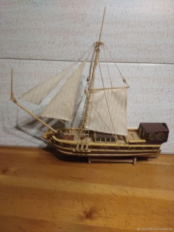 Голландская прогулочная яхта ХVII ВЕКА, Мягкие игрушки, Электроугли,  Фото №1