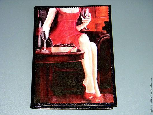 """Обложки ручной работы. Ярмарка Мастеров - ручная работа. Купить Авто+паспорт с двумя картинками""""Ножки"""". Handmade. Черный, обложки, бумажник водителя"""