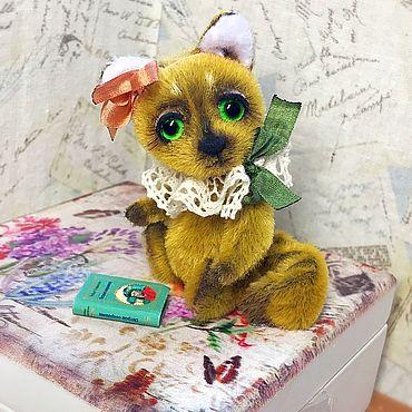 Куклы и игрушки ручной работы. Ярмарка Мастеров - ручная работа Лучик( 7 см лисичка тедди). Handmade.