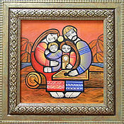 Русский стиль ручной работы. Ярмарка Мастеров - ручная работа Картина Гусли. Handmade.